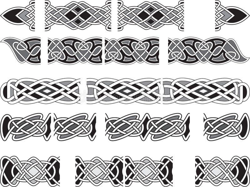 Ornements médiévaux celtiques illustration libre de droits