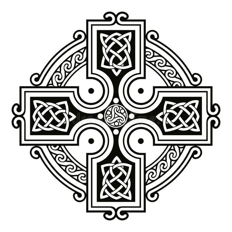 Ornements nationaux celtiques illustration de vecteur