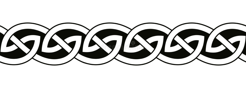 Ornements nationaux celtiques illustration stock