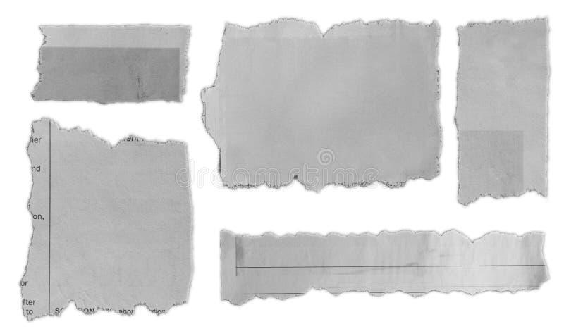 Ornerade pappersdelar fotografering för bildbyråer