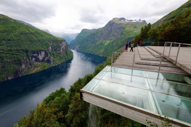 Ornesvingen-Eagle Geiranger Norvegia fotografia stock