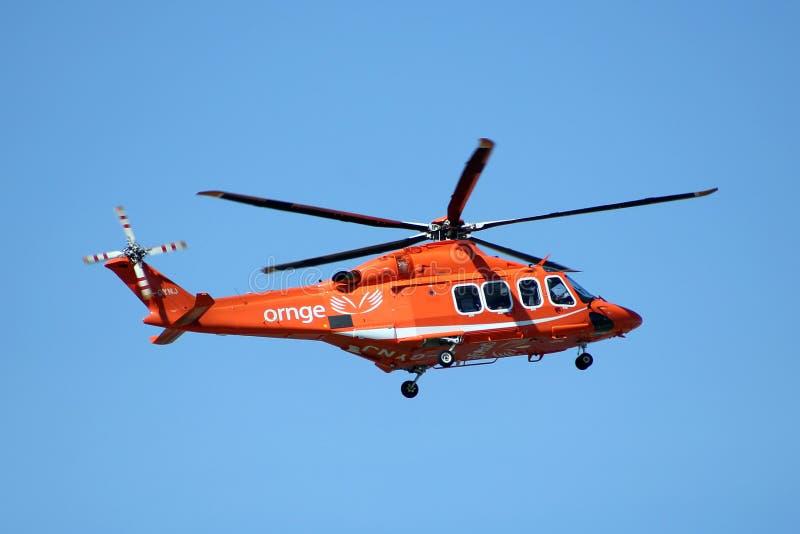 ORNGE-ambulanshelikopter arkivbild
