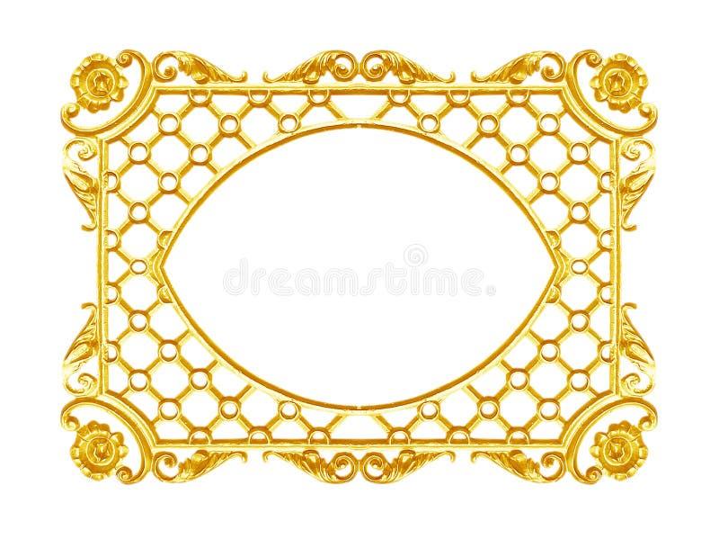 Orni gli elementi, progettazioni floreali della struttura d'annata dell'oro immagini stock