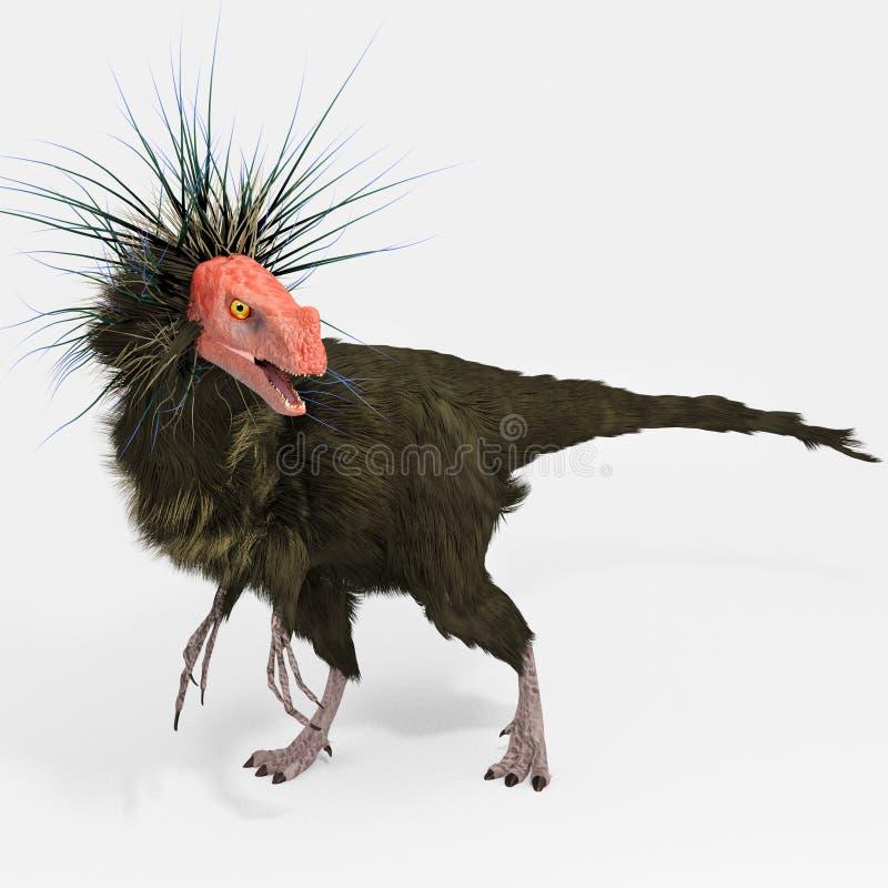 Ornitholestes (dinosaurie) stock illustrationer