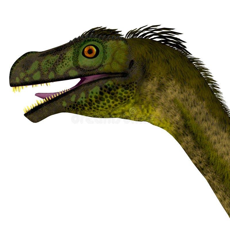 Ornitholestes dinosauriehuvud vektor illustrationer