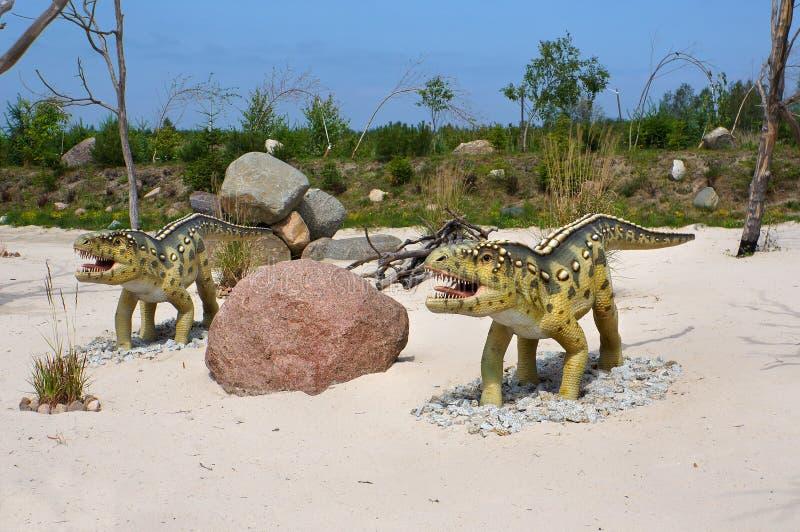Ornithosuchus. Modelo do dinossauro. foto de stock