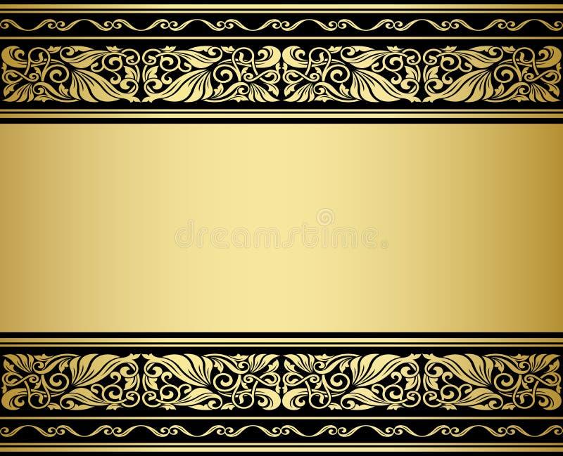 Ornmaments et modèles dorés illustration de vecteur