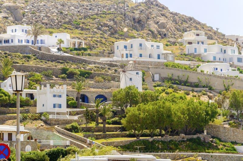 Ornos, Mykonos, Grecia fotografía de archivo