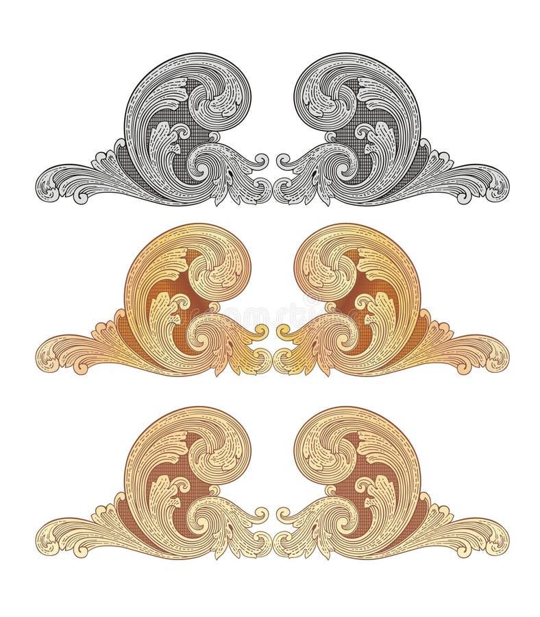 Oro 2 dei Cartouches illustrazione vettoriale