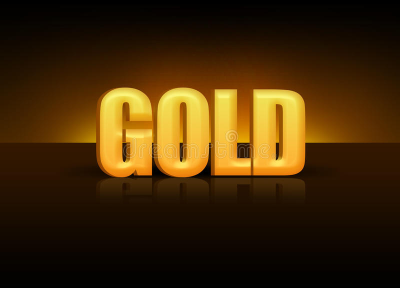 Oro 3D stock de ilustración