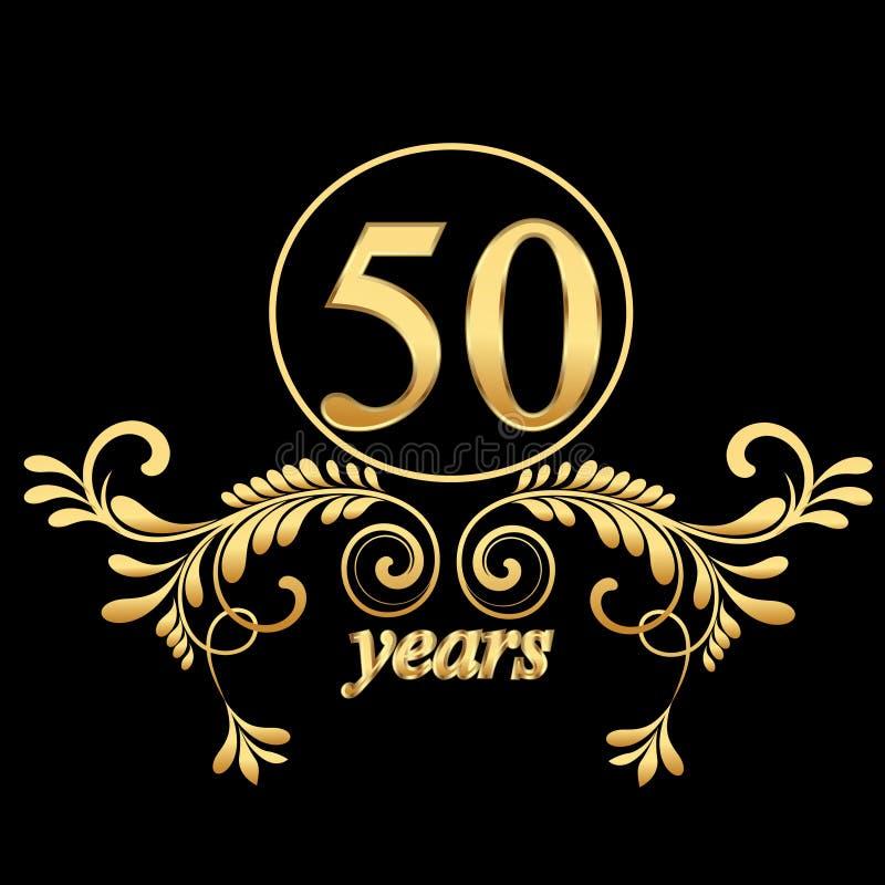 Oro 50 anni illustrazione di stock