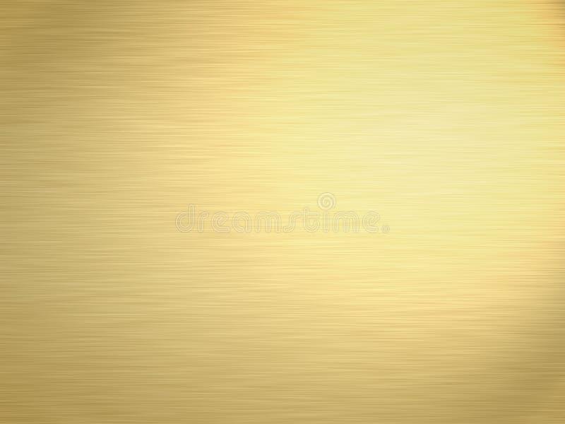 Oro aplicado con brocha stock de ilustración