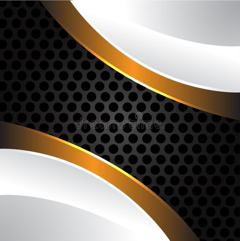 Oro blanco en vector gris de la malla del círculo libre illustration