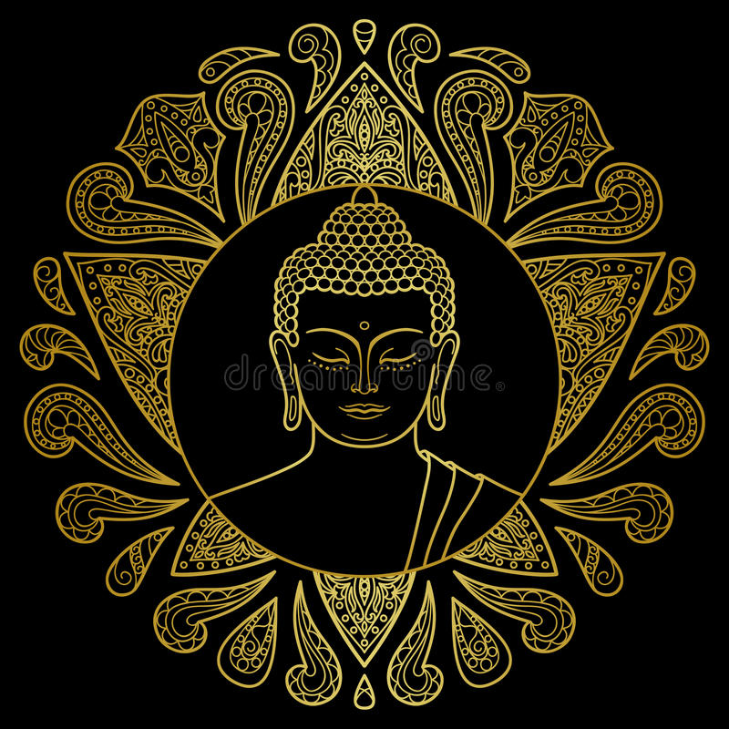 Oro Buda con Lotus libre illustration