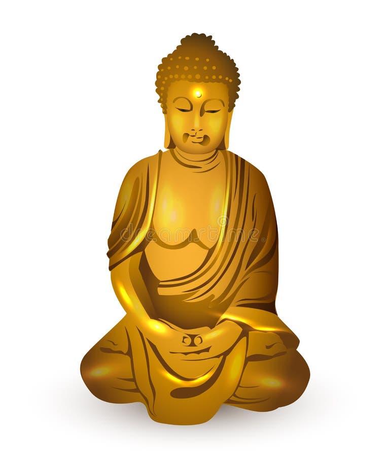 Oro Buda, vector ilustración del vector