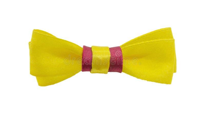 Oro, cinta amarilla con el arco Trayectoria de recortes Aislado en el fondo blanco fotos de archivo libres de regalías