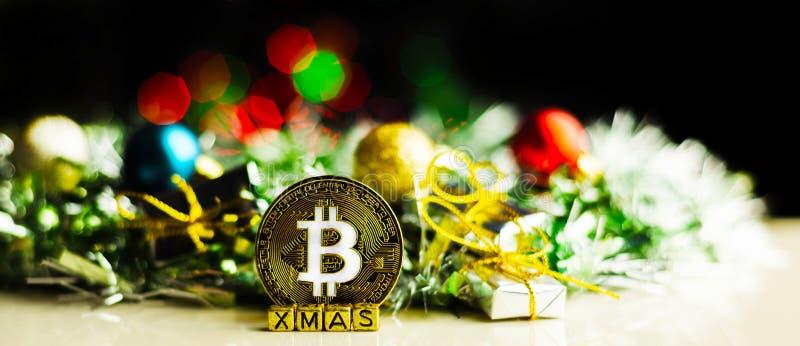 Oro cripto Bitcoin, BTC, macro colpo di valuta delle monete di Bitcoin fotografia stock libera da diritti