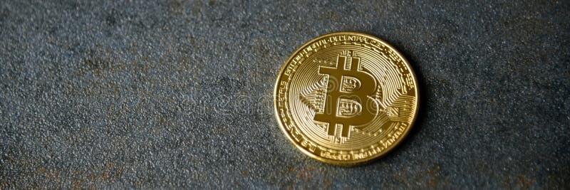 Oro Crypto Bitcoin - BTC de la moneda - moneda del pedazo fotos de archivo