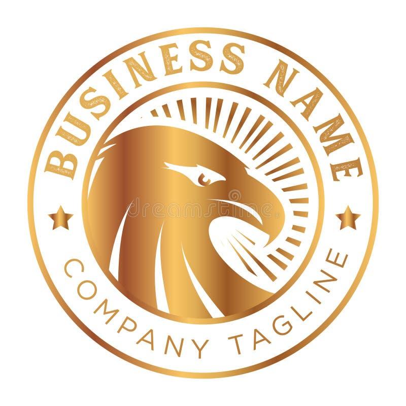 Oro d'annata Eagle Emblem Logo immagine stock libera da diritti