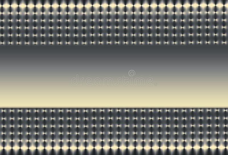 Oro d'argento e maglia nera illustrazione di stock