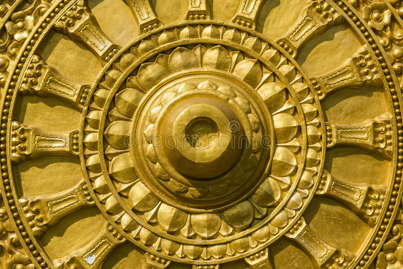 Oro de Buda que talla textura imágenes de archivo libres de regalías