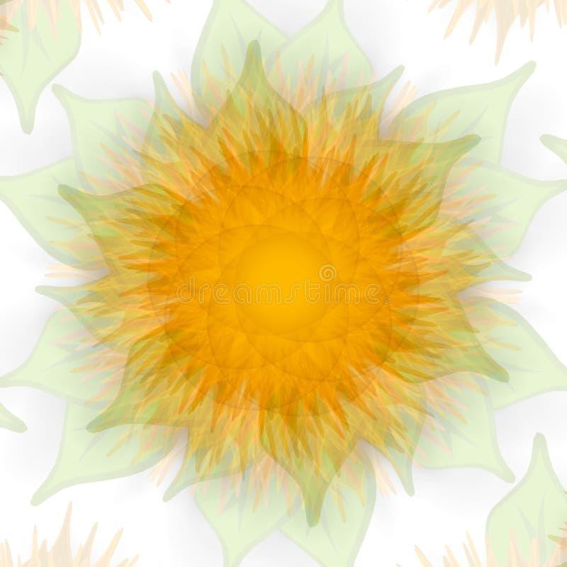 Oro de descoloramiento de la textura del girasol libre illustration