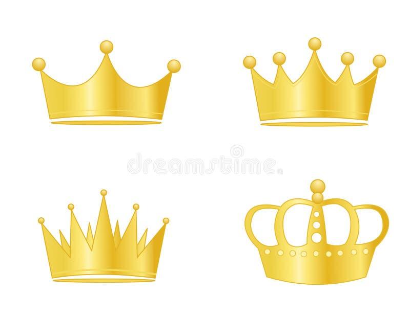 Oro de la corona stock de ilustración