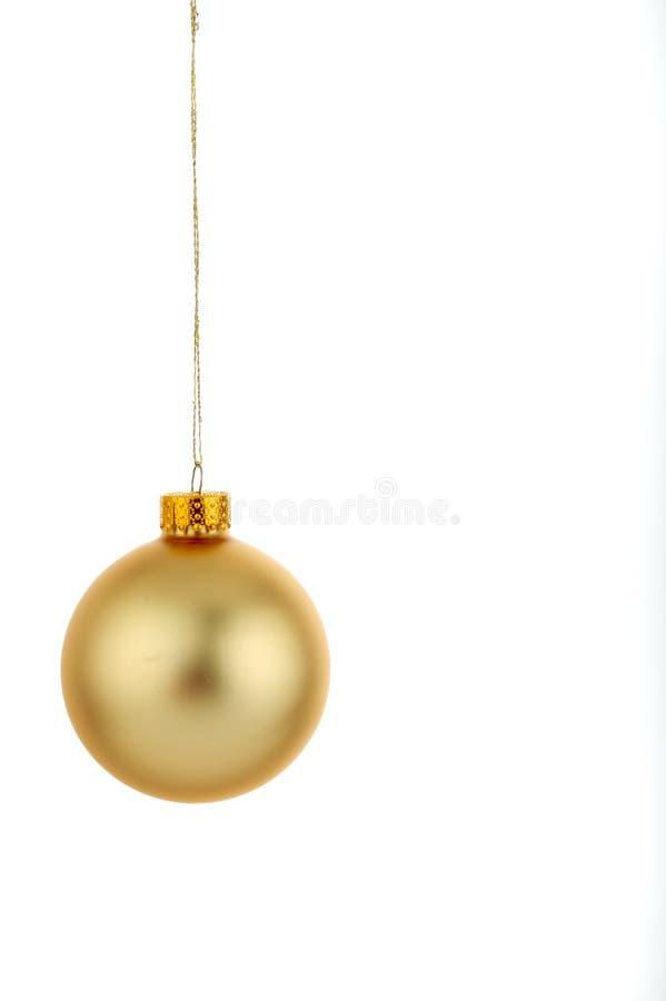 Oro de la decoración de la Navidad imagen de archivo