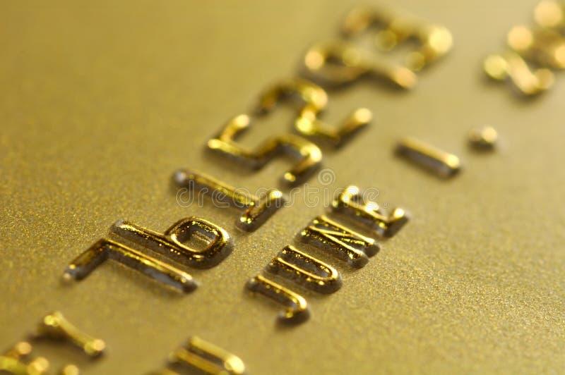 Oro de la tarjeta de crédito fotografía de archivo