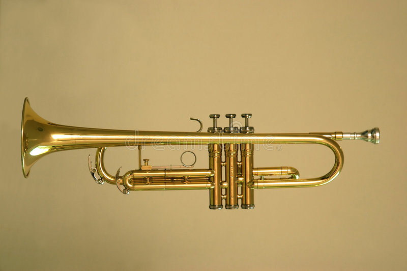Oro de la trompeta fotos de archivo