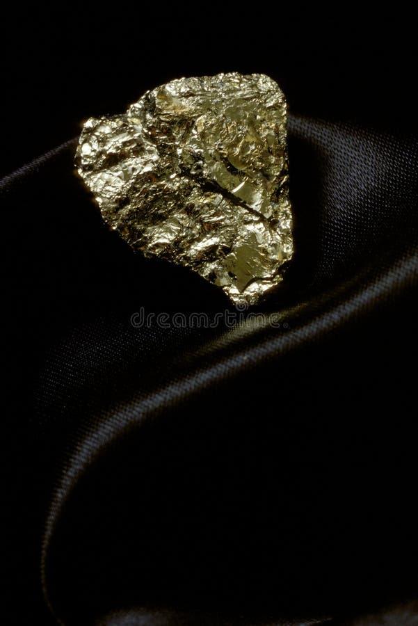 Oro de los tontos en el satén fotografía de archivo