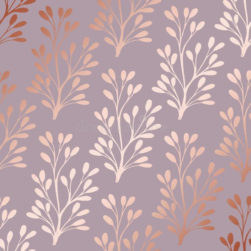 Oro de Rose Estampado de flores decorativo elegante para imprimir libre illustration