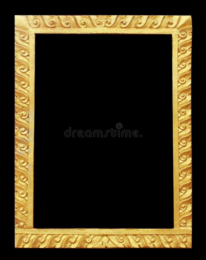 Oro de Tailandia del estuco del arte usado para hacer marcos fotos de archivo