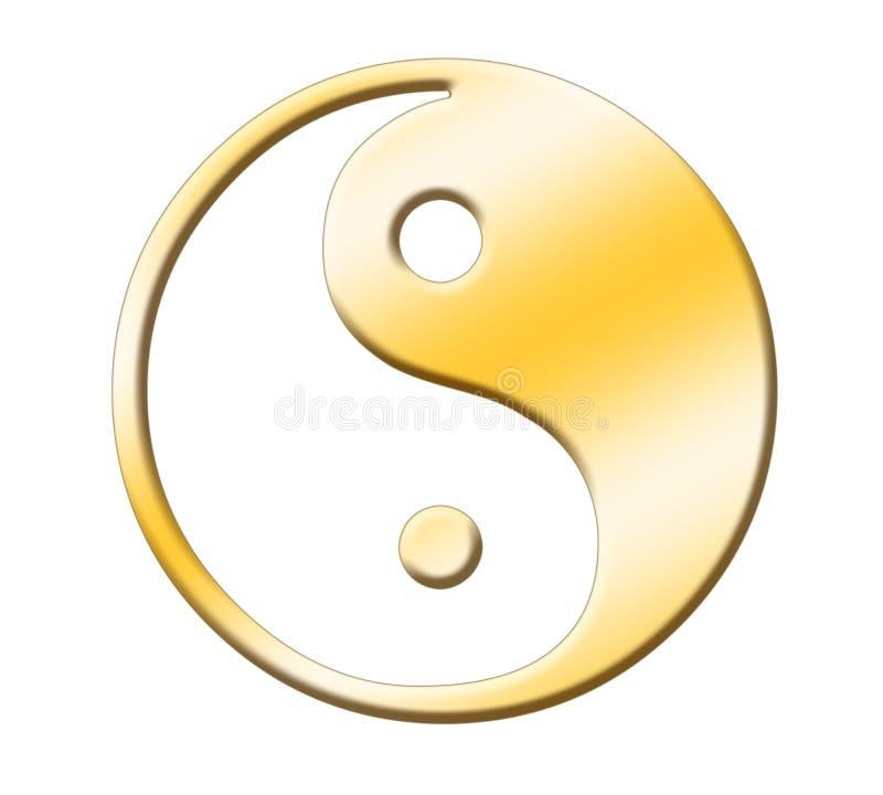 Oro de Yin yang fotos de archivo libres de regalías