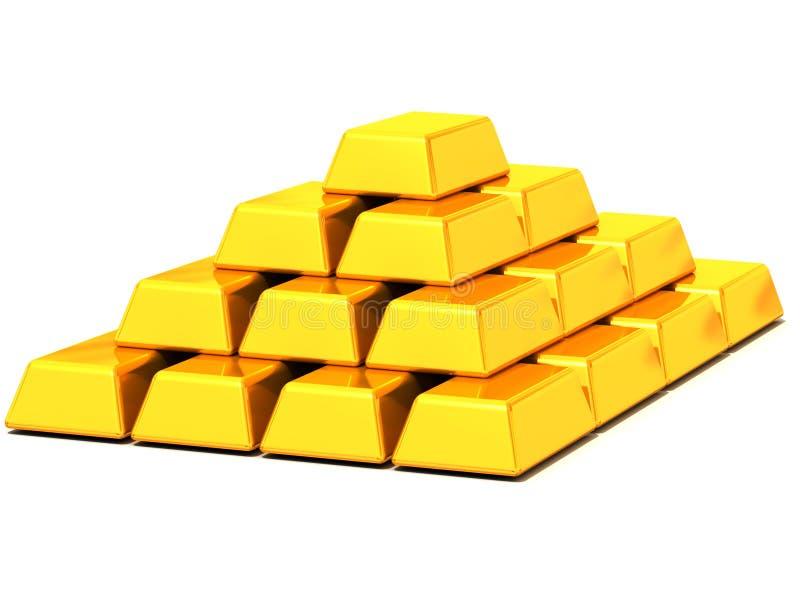 Oro dei lingotti illustrazione di stock