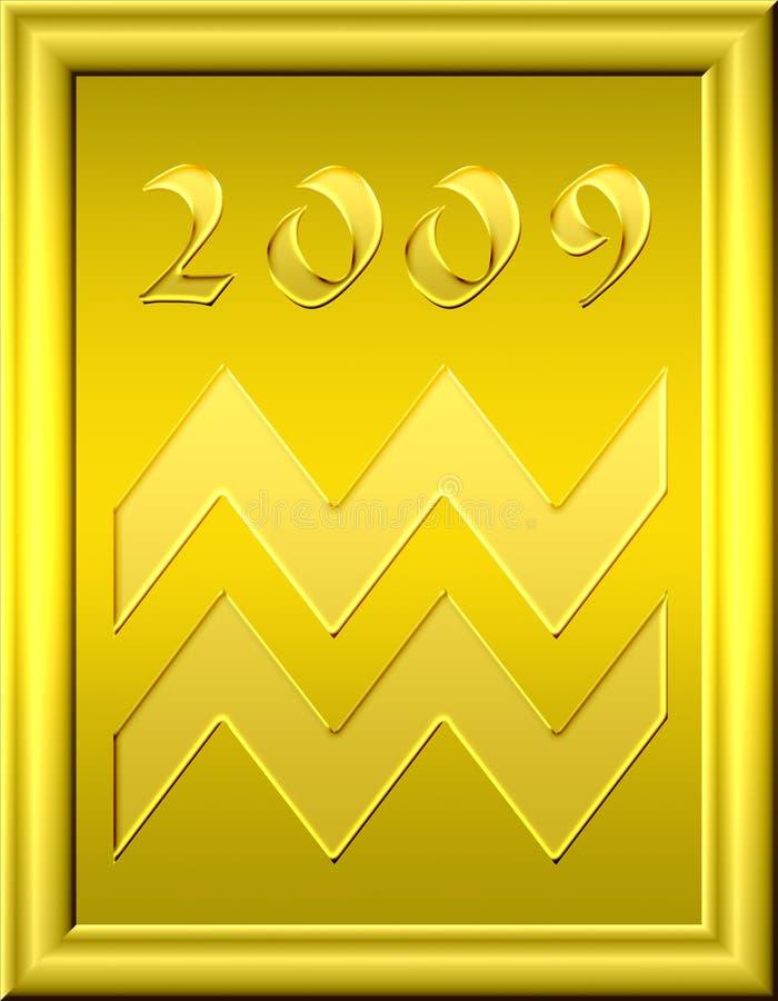 Oro del Aquarius royalty illustrazione gratis