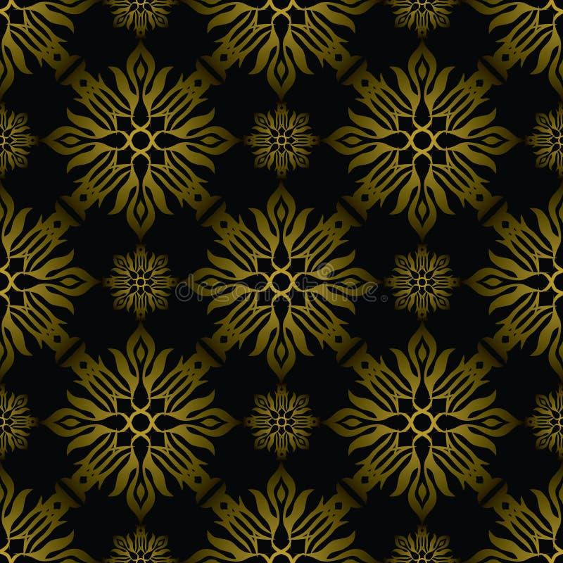 Oro del azulejo del inca stock de ilustración