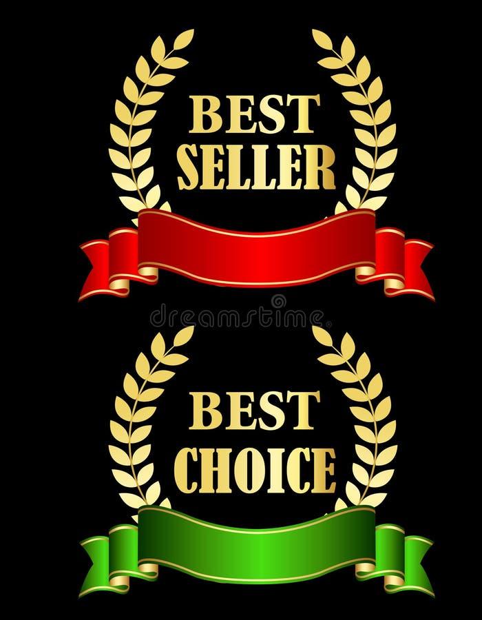 Oro del best-seller royalty illustrazione gratis