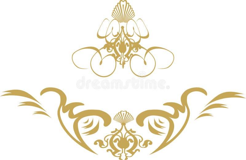 Oro del blindaje del remolino stock de ilustración