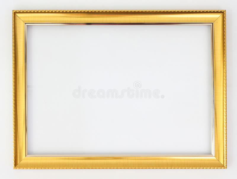 Oro del capítulo en un fondo blanco fotografía de archivo libre de regalías