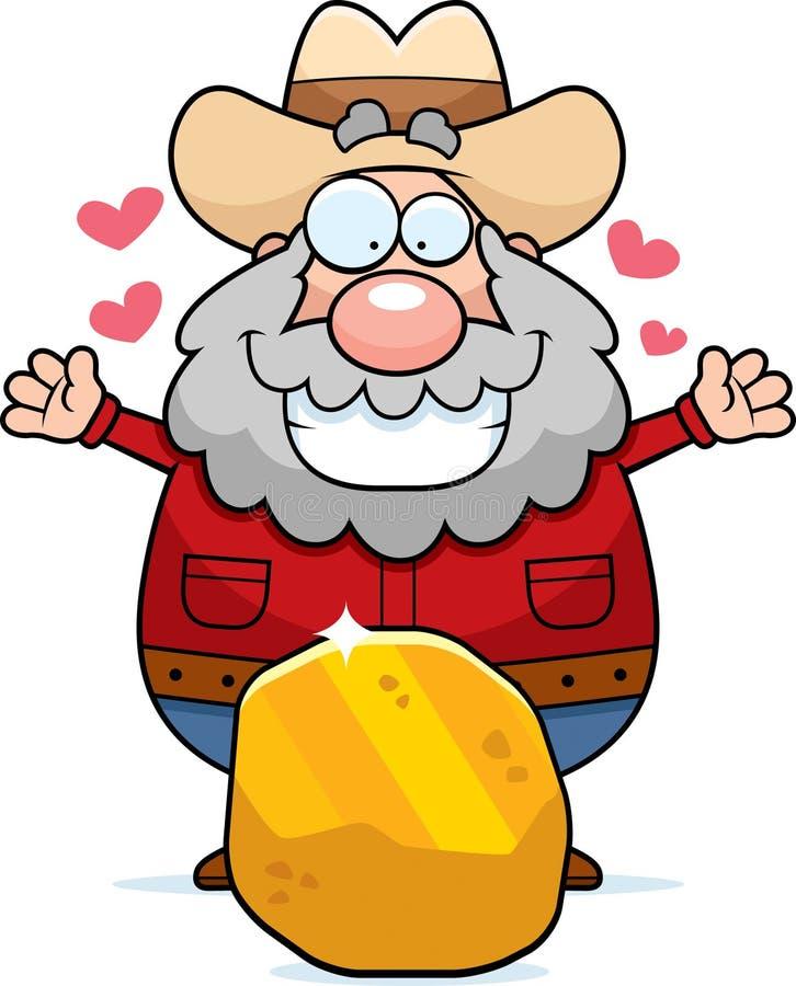 Oro del minero stock de ilustración