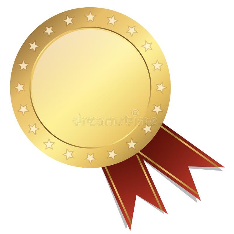 oro del modello della guarnizione con l'insegna illustrazione di stock