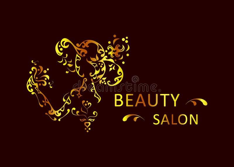 Oro del salón de belleza libre illustration