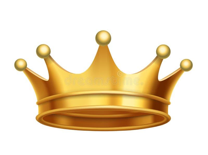 Oro della corona di re di vettore illustrazione di stock