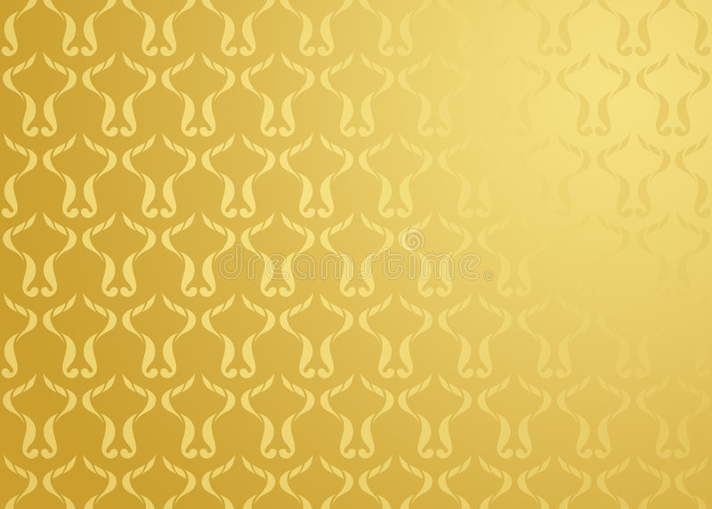Oro della priorità bassa del damasco royalty illustrazione gratis