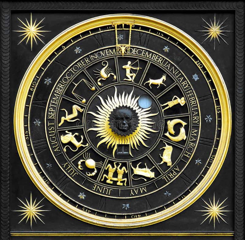 Oro dello zodiaco fotografia stock