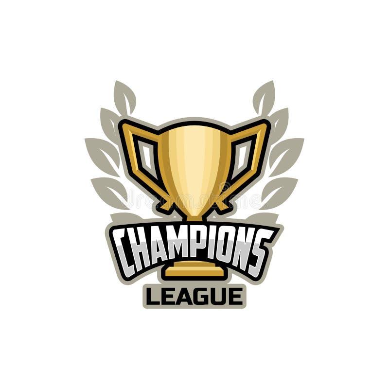 Oro di logo della lega di sport dei campioni royalty illustrazione gratis