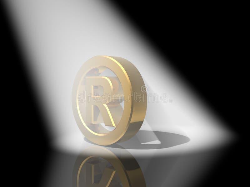 oro di marchio di fabbrica 3D illustrazione di stock