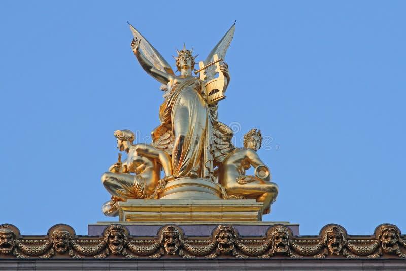Oro di opera di Parigi fotografie stock libere da diritti