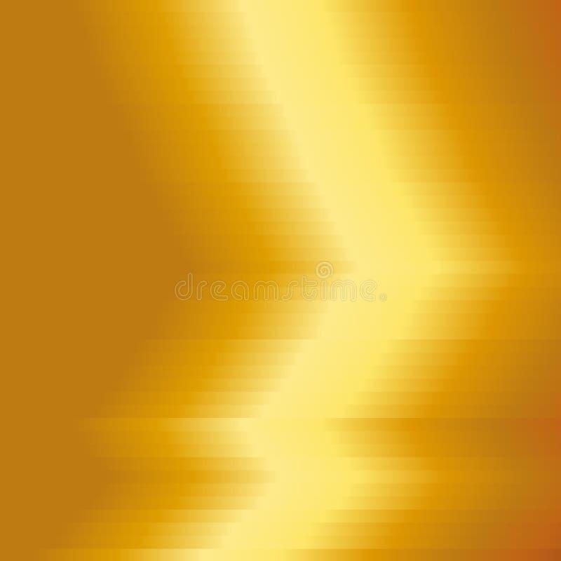 Oro di piastra metallica con il fondo giallo di struttura Fondo del metallo dell'oro Illustrazione di vettore illustrazione di stock